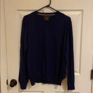 Black Brown 1826 men's v-neck sweater